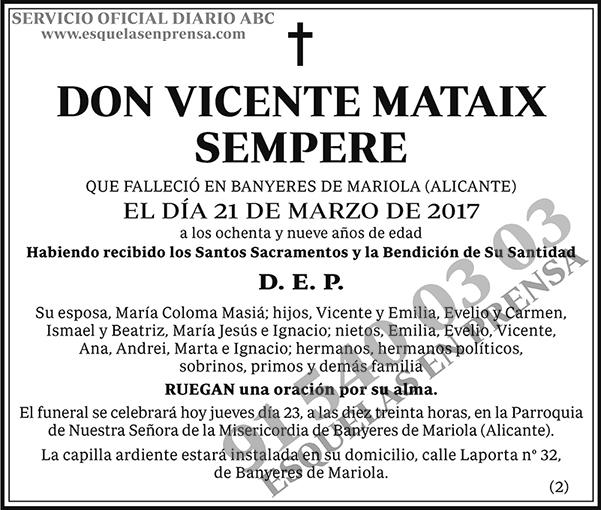 Vicente Mataix Sempere